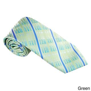 Elie Balleh Milano Italy EBNT19021 Microfiber Checkered Neck Tie