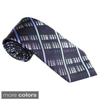 Elie Balleh Milano Italy EBNT19021 Microfiber Checkered Neck Tie|https://ak1.ostkcdn.com/images/products/10220654/P17342136.jpg?impolicy=medium