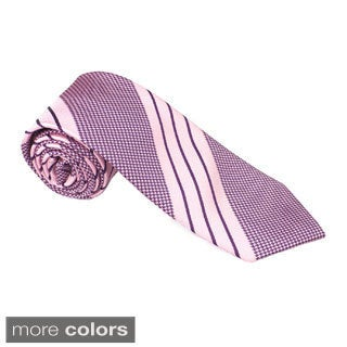 Elie Balleh Milano Italy EBNT19104 Microfiber Houndstooth Neck Tie