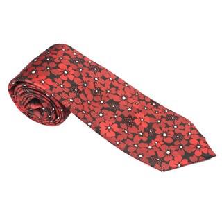Elie Balleh Milano Italy EBNT19216 Microfiber Floral Neck Tie