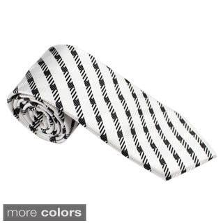 Elie Balleh Milano Italy EBNT73 Microfiber Checkered Neck Tie