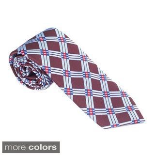 Elie Balleh Milano Italy EBNT348 Microfiber Checkered Neck Tie