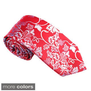 """Elie Balleh Milano Italy EBNT609 Microfiber Floral Neck Tie - 3""""w x 58""""l (4 options available)"""