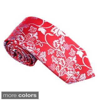 Elie Balleh Milano Italy EBNT609 Microfiber Floral Neck Tie