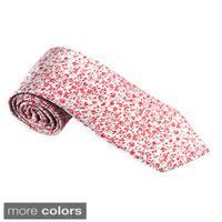 Elie Balleh Milano Italy EBNT1019 Microfiber Floral Neck Tie