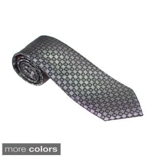 Elie Balleh Milano Italy EBNT2551 Microfiber Plaid Neck Tie