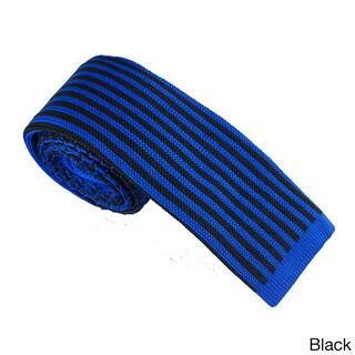 Elie Balleh Milano Italy EBNT2 Microfiber Houndstooth Neck Tie (Option: Black)