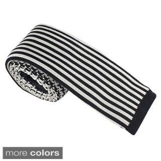 Elie Balleh Milano Italy EBNT2 Microfiber Houndstooth Neck Tie