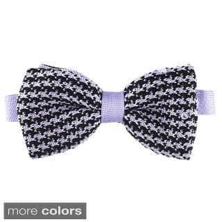 Elie Balleh Milano Italy Boys' Houndstooth Bow Tie|https://ak1.ostkcdn.com/images/products/10220690/P17342166.jpg?impolicy=medium