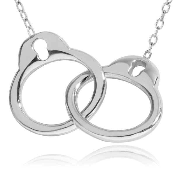 Journee Collection Sterling Silver Handcuff Pendant
