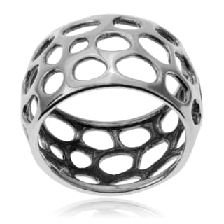 Journee Collection Sterling Silver Wide Band Ring (11mm)