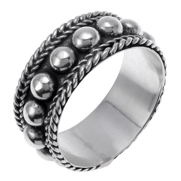 Sterling Silver Bali Design Ring 7mm