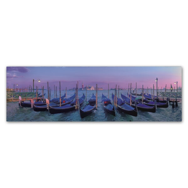 John Xiong 'Venice Gondolas' Canvas Art - Multi