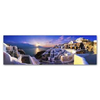 John Xiong 'Santorini Sunset' Canvas Art