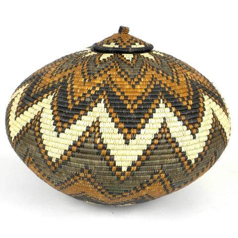 Handmade Zulu Wedding Basket - One of a Kind (South Africa)