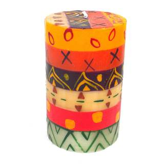 Handmade Indaeuko Design Pillar Candle (South Africa)