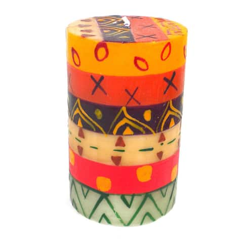 Handmade Single Boxed Indaeuko Pillar Candle (South Africa)