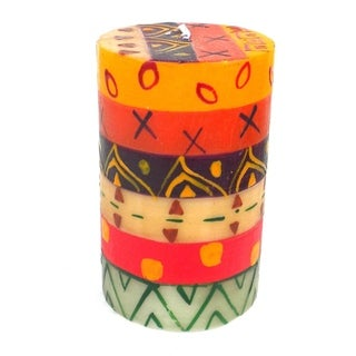 Single Boxed Hand Painted Pillar Candle - Indaeuko Design (South Africa)