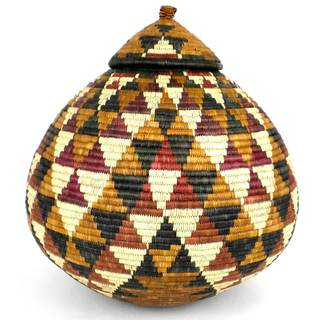 Handmade Zulu Wedding Basket - One of a Kind (South Africa)
