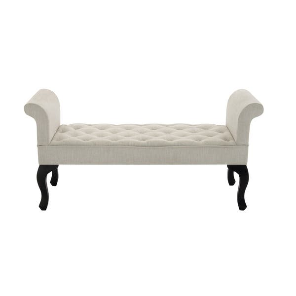 Excellent Shop Traditional Wood And Fabric White Backless Bench By Ibusinesslaw Wood Chair Design Ideas Ibusinesslaworg
