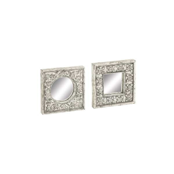 Wall Decor Set uma silvertone mirror wall decor (set of 2) - free shipping today