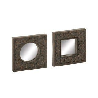Bronze Mirror Wall Decor (Set of 2)