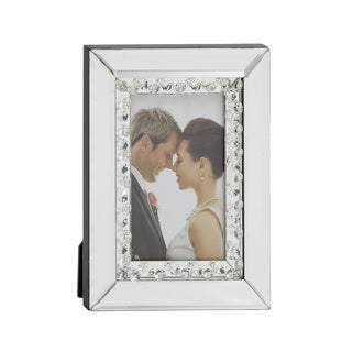 UMA Wood Silvertone Mirror Photo Frame