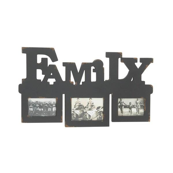 Grey Wood Wall Photo Frame
