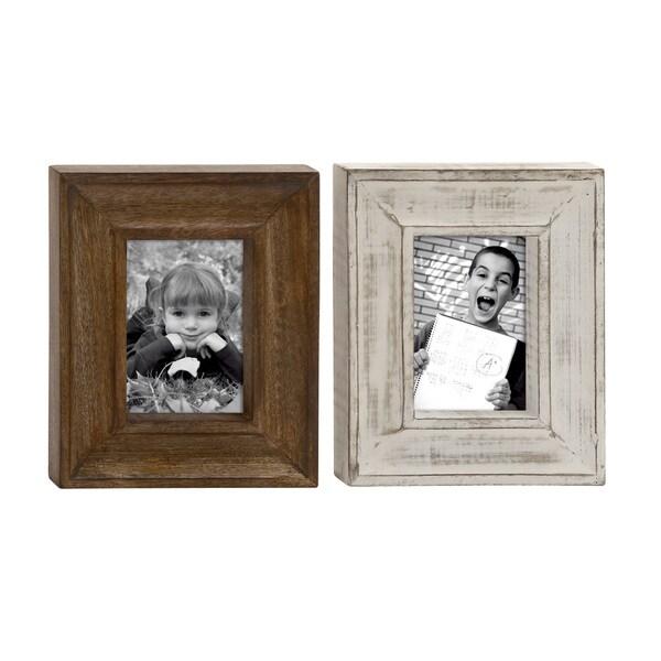 UMA Wood Photo Brown Frame (Assortment of 2) - Free Shipping On ...