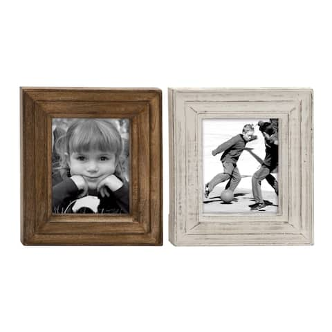 The Gray Barn Windswept Wood Brown Photo Frame (Assortment of 2)