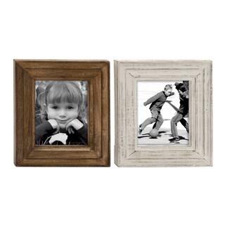 UMA Wood Brown Photo Frame (Assortment of 2)