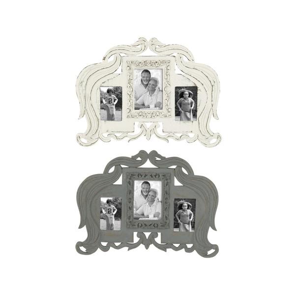 UMA Wooden Wall Grey Photo Frames (Set of 2)