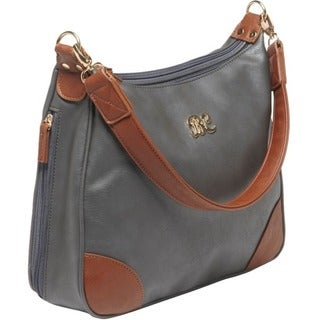 Bulldog Carrying Case (Purse) for Accessories - Gray, Tan