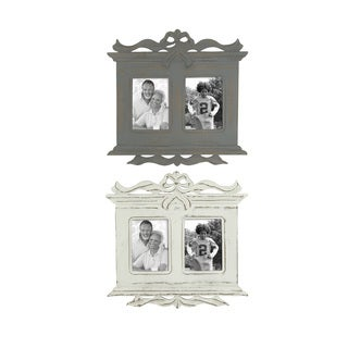 UMA Grey Wooden Wall Photo Frame (Assortment of 2)