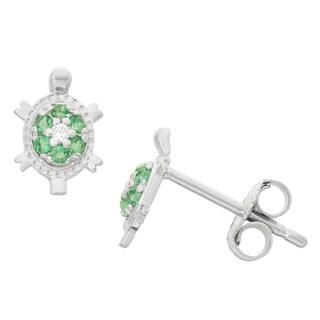 Junior Jewels Sterling Silver Turtle Stud Earrings