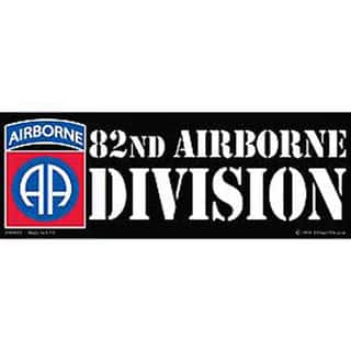 82nd Airborne Division Bumper Sticker|https://ak1.ostkcdn.com/images/products/10221111/P17342530.jpg?impolicy=medium