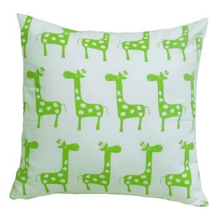 Chartreuse Nursery Giraffe Pillow Cover