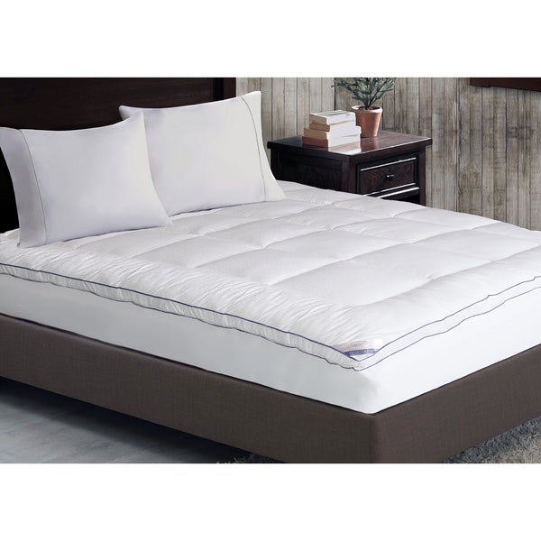 kathy ireland Home 1000 Thread Count Cotton-rich Mattress Pad - White