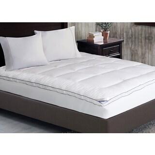 kathy ireland Home 1000 Thread Count Cotton-rich Mattress Pad - White