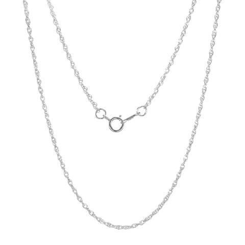 Handmade Jewelry by Dawn Sterling Silver 18-inch French Rope Chain Necklace (1.3mm) (USA)