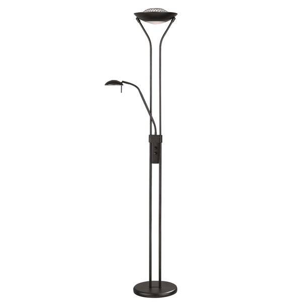 Lite Source Duality II Torchiere/ Reading Lamp, Black