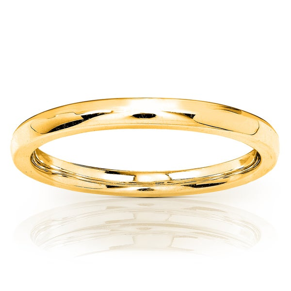 Annello by Kobelli 14k Yellow Gold 1.7mm Solid Gold Wedding Band