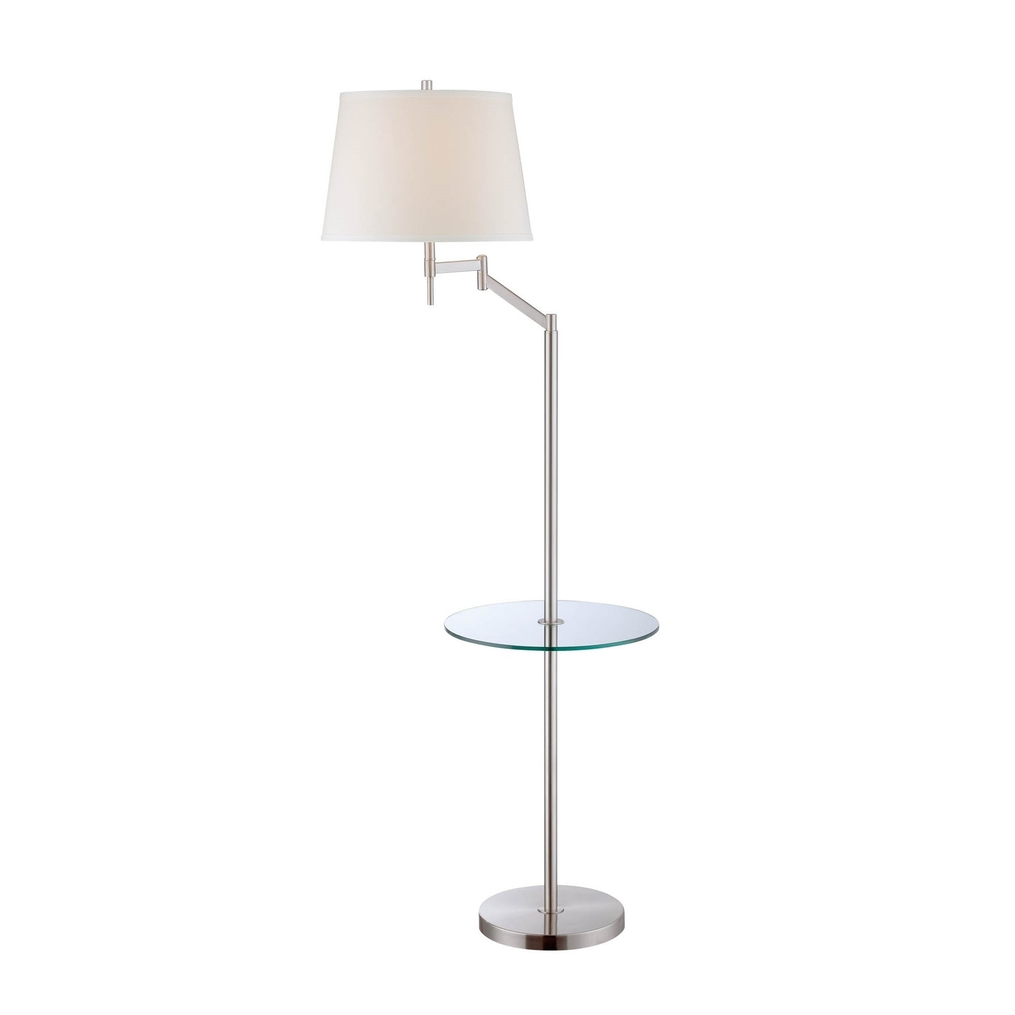 Lite Source Eveleen Floor Lamp (Polished Steel, Clear, Of...
