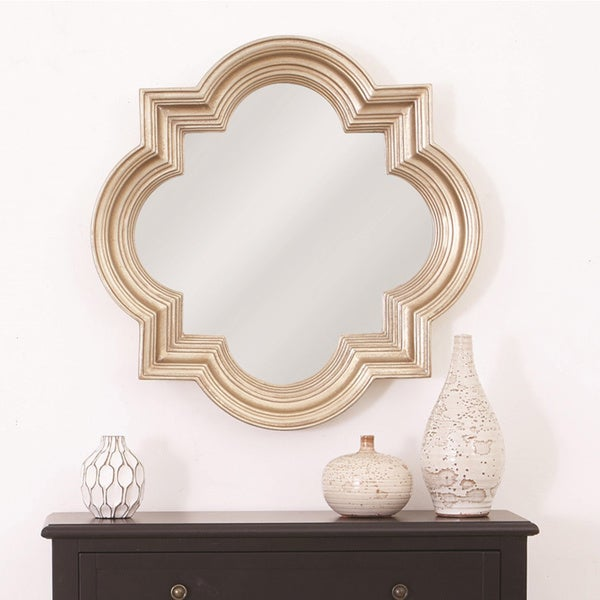 Shop The Gatsby Wall Mirror With Platinum Gold Frame On