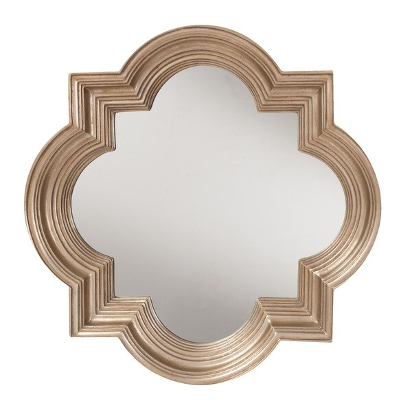 34 Inch Round Mirror Part - 26: The Gatsby Wall Mirror With Platinum Gold Frame - Free Shipping Today -  Overstock.com - 17343386