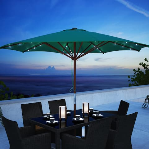 North Bend Patio Umbrella with Solar Power LED Lights by Havenside Home