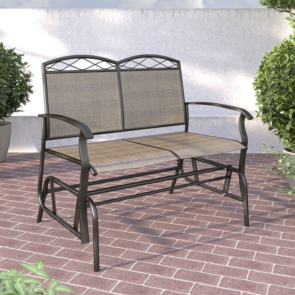 CorLiving PZT 325 G Speckled Brown Patio Double Glider