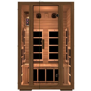 JNH Lifestyles Freedom MG201RB 2-person, Low EMF, Far Infrared, Canadian Western Red Cedar Wood Sauna