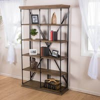 Appleton Five-Shelf Industrial Bookcase by Christopher Knight Home