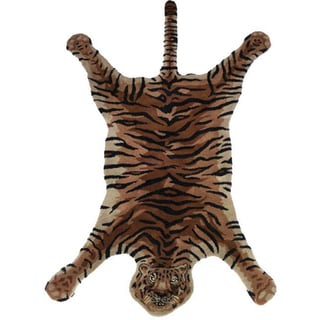 Tiger Safari Hand-Tufted Rug (India)
